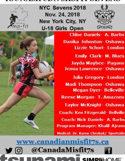 U18 Girls at NYC7s- Nov. 24, 2018