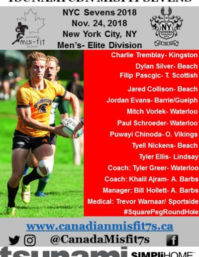 Mens at NYC7s- Nov 24, 2018